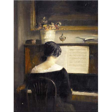 Carl Vilhelm Holsoe Piyano Çalan Kadın