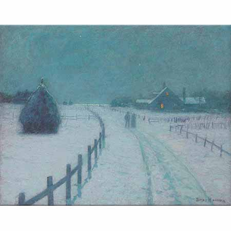 Lovell Birge Harrison Kış Akşamında Yürüyüş