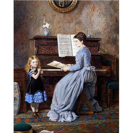 George Goodwin Kilburne Piyano Dersi