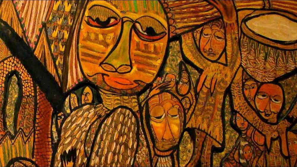 Afrika Sanatı Prens Twince Seven Seven'in Yeni Afrika Sanatına Bir Örnek
