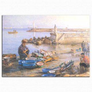 Hüseyin Cahit Derman Sahilde Balıkçılar