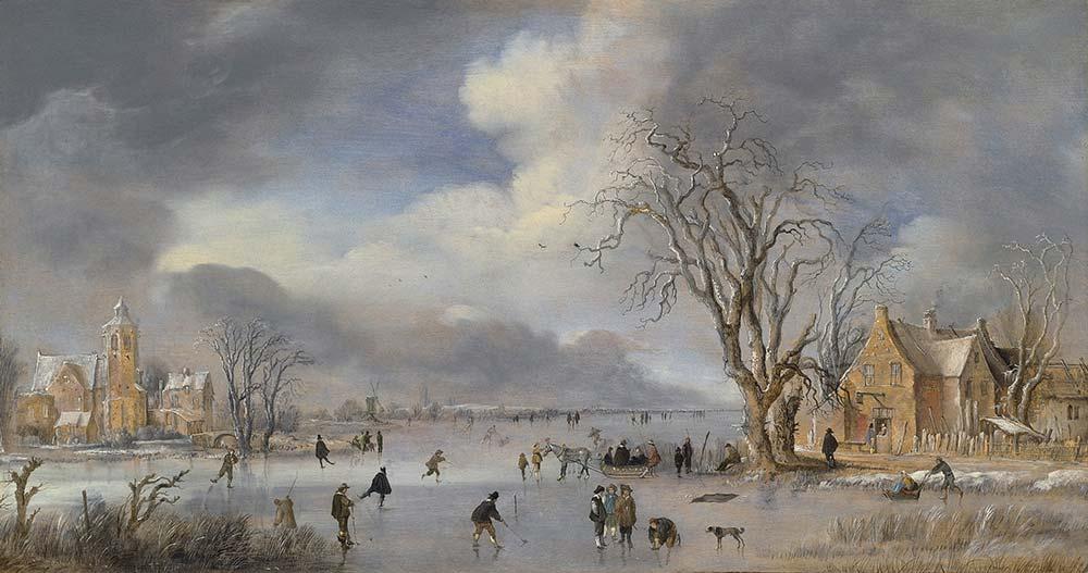 Aert van der Neer Kış Manzarası