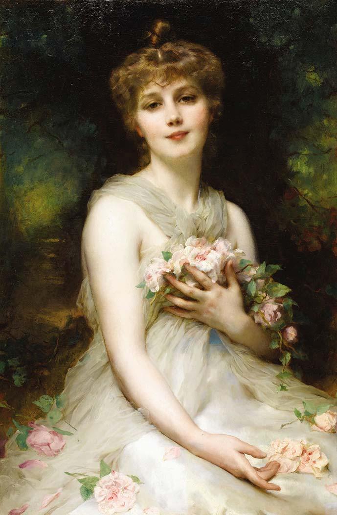 Etienne Adolphe Piot Kadın Portresi