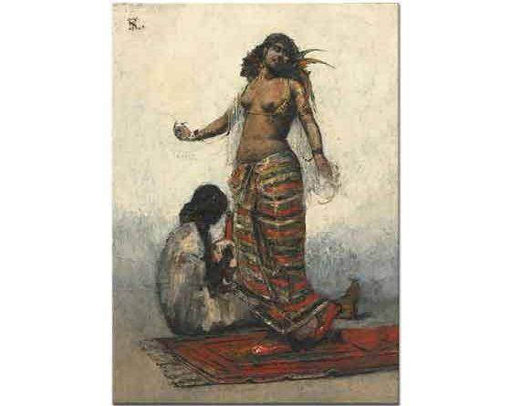 Henri Regnault Köle Kız