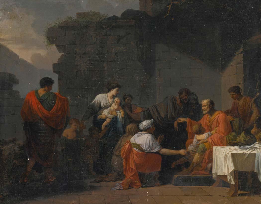 Jean François Pierre Peyron Belisarius'un Bir Köylüyü Kabul Edişi