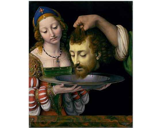 Andrea Solario Salome Aziz John'un Kafası ile