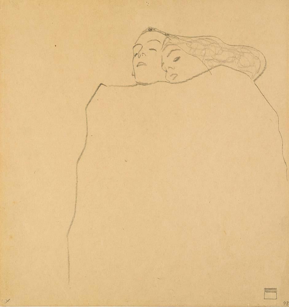 Egon Schiele Uyuyan Çift