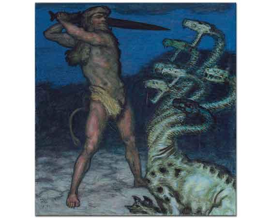 Franz von Stuck Herkül ve Hydra