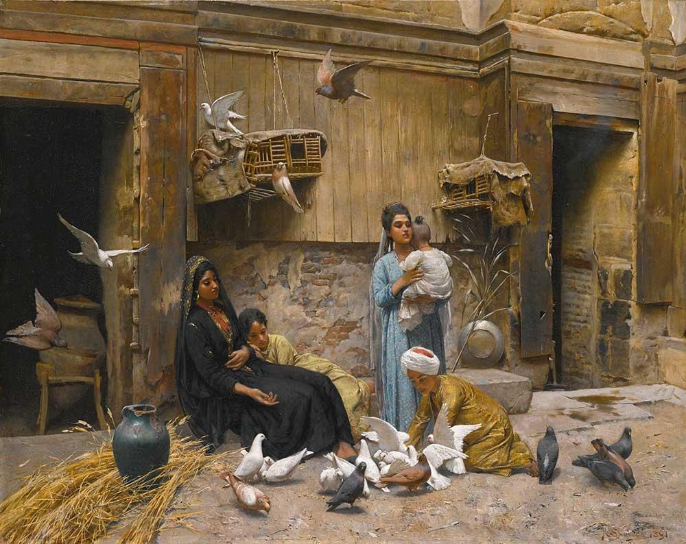 Rudolf Swoboda Kahire'de Avlu
