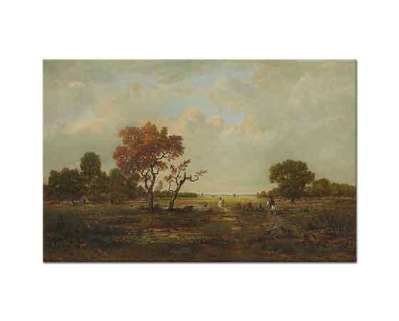 Theodore Rousseau Fontainebleau Manzarası