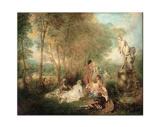 Jean Antoine Watteau Aşk Festivali - The Feast of Love