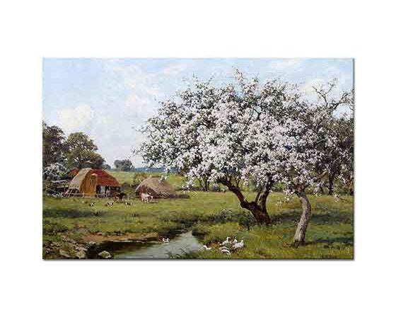 Edward Wilkins Waite Çiçekli Ağaçlar