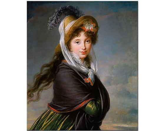 Elisabeth Vigee Le Brun Bir Kadın Portresi