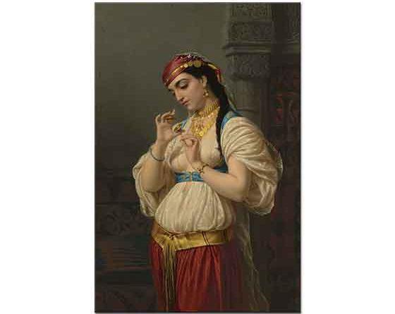 Emile Vernet Lecomte Mısırlı Kız