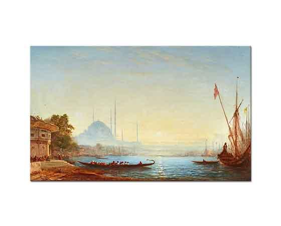 Felix Ziem Boğaz ve İstanbul'a Bakış