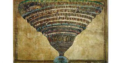 Sandro Botticelli Cehennemin Haritası İlahi Komedya'dan