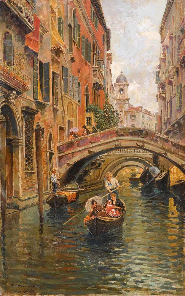 Carlo Brancaccio Kanal Manzarası Venedik