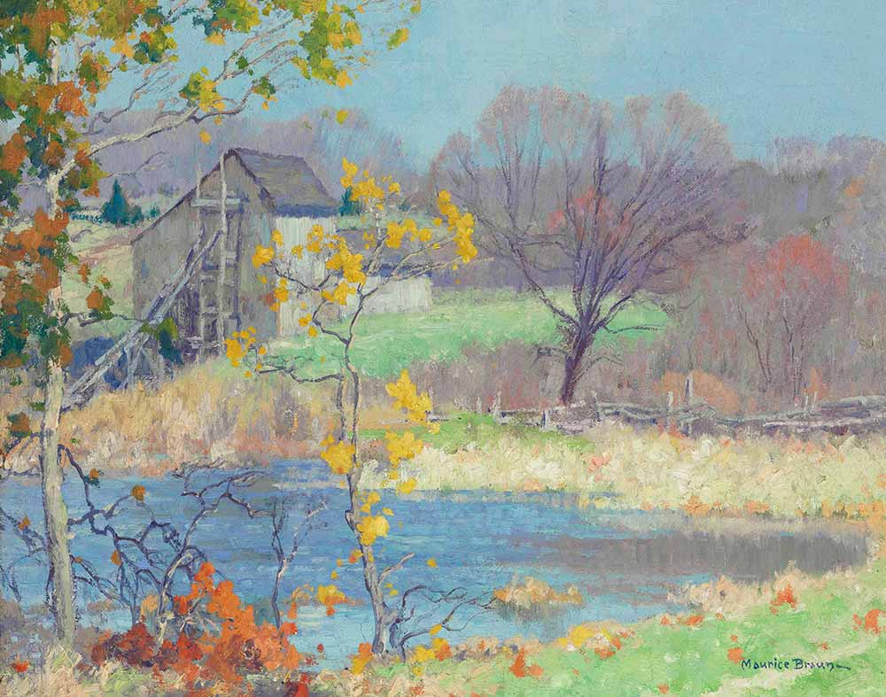 Maurice Braun Old Lym'da Gölet Connecticut