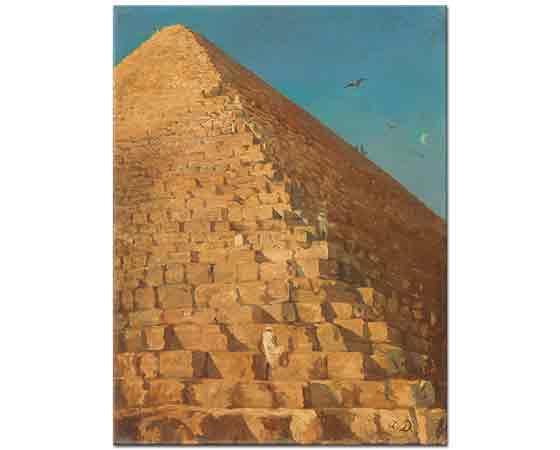 Adrien Dauzats Giza Piramidi