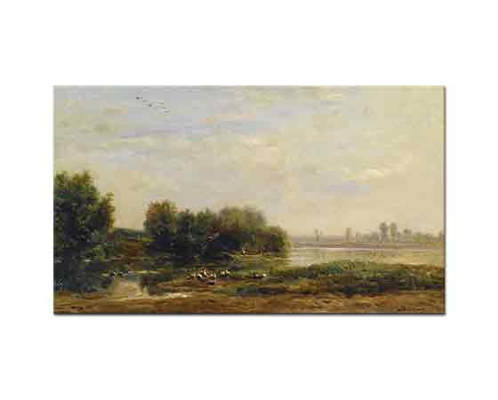 Charles Francois Daubigny Oise kenarında