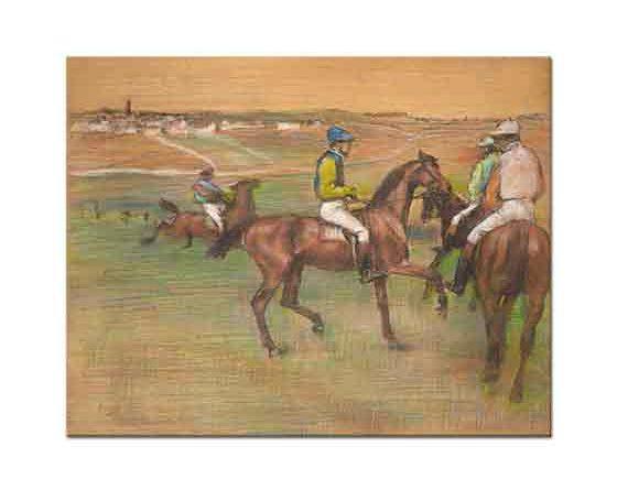 Edgar Degas Jokeyleri ile Yarış Atları