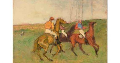 Edgar Degas Jokeyler ve Yarış Atları