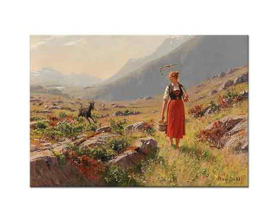 Hans Dahl Çoban Evine Dönerken
