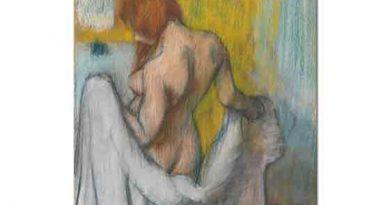 Edgar Degas Havlusu ile Kadın