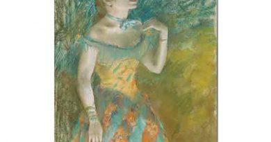 Edgar Degas Yeşiller İçinde Şarkıcı