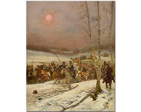 Edouard Detaille Kazakların Saldırısı