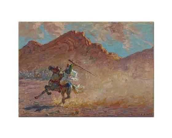 Etienne Dinet Silahı ile Genç Süvari
