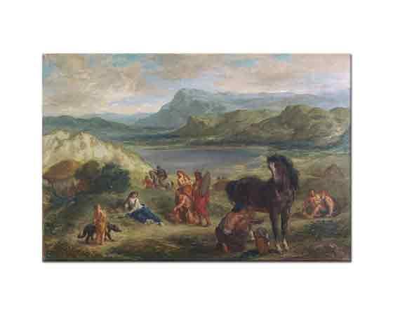 Eugene Delacroix Ovid İskitler Arasında