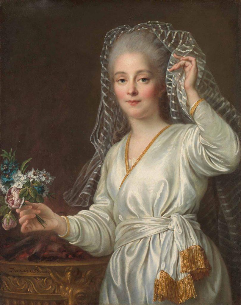 François Hubert Drouais Genç Kadın Portresi