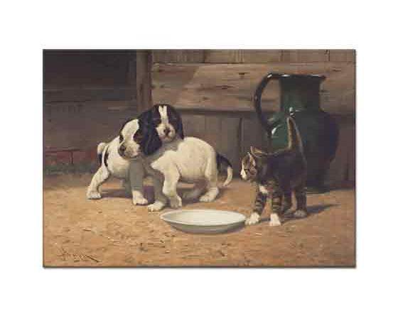 John Henry Dolph Kedicik ve Köpek Yavruları