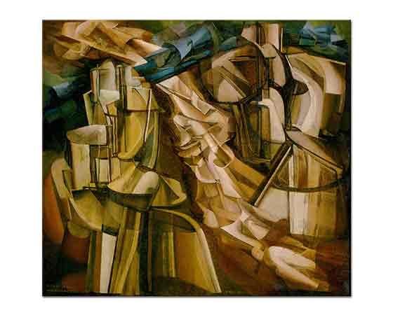 Marcel Duchamp Nülerle Çevrili Kral ve Kraliçe