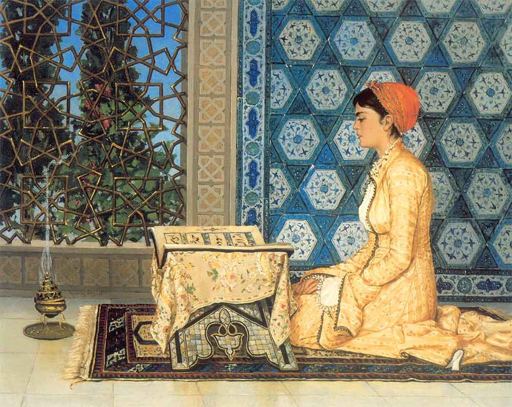 Osman Hamdi Bey'in Kur'an Okuyan Kız Tablosu