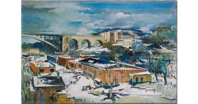 Preston Dickinson Kışın Harlem Nehri