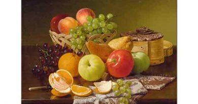 Robert Spear Dunning, Elma ve Üzümlü Natürmort
