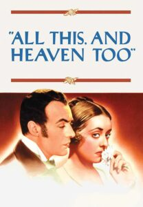 All This and Heaven Too Film Afişi