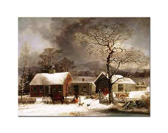 George Henry Durrie, New Haven'de Kış Manzarası