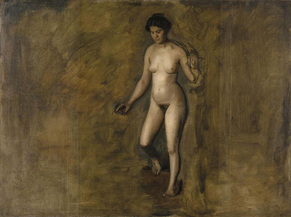 Thomas Eakins, William Rush'ın Modeli için Etüd