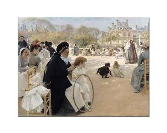 Albert Edelfelt Lüxemburg Bahçesi Paris