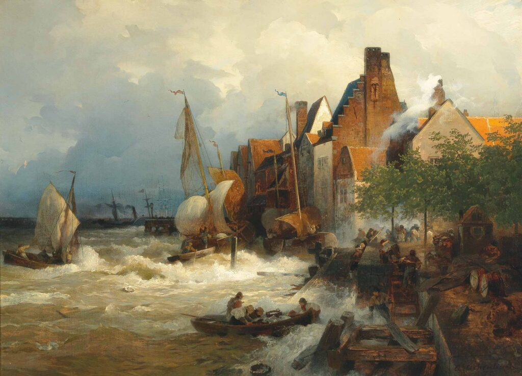 Andreas Achenbach Fırtınada Balıkçıların Dönüşü