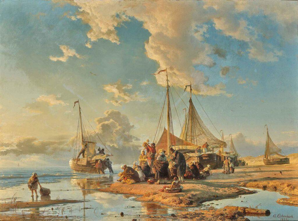 Andreas Achenbach Hollandalı Balıkçılar