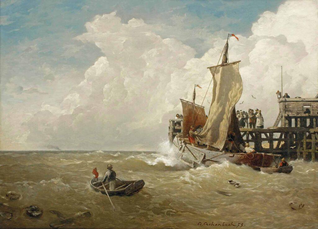 Andreas Achenbach Ostend Limanında