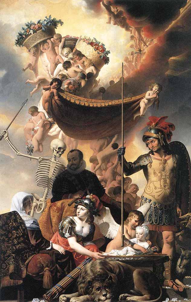 Caesar van Everdingen F Hendrik'in Doğum Allegorisi