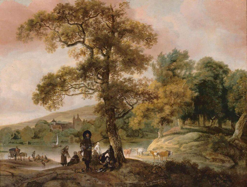 Jacob Esselens Nehir Kıyısında Avcılar