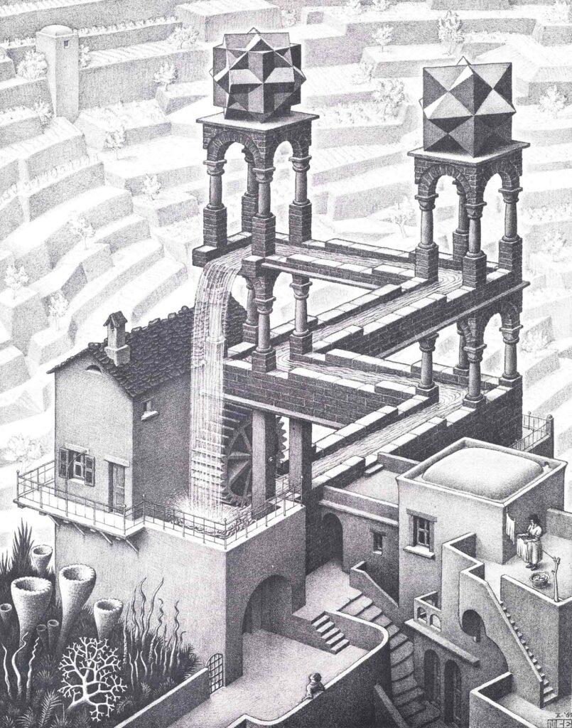 Maurits Cornelis Escher Şelale