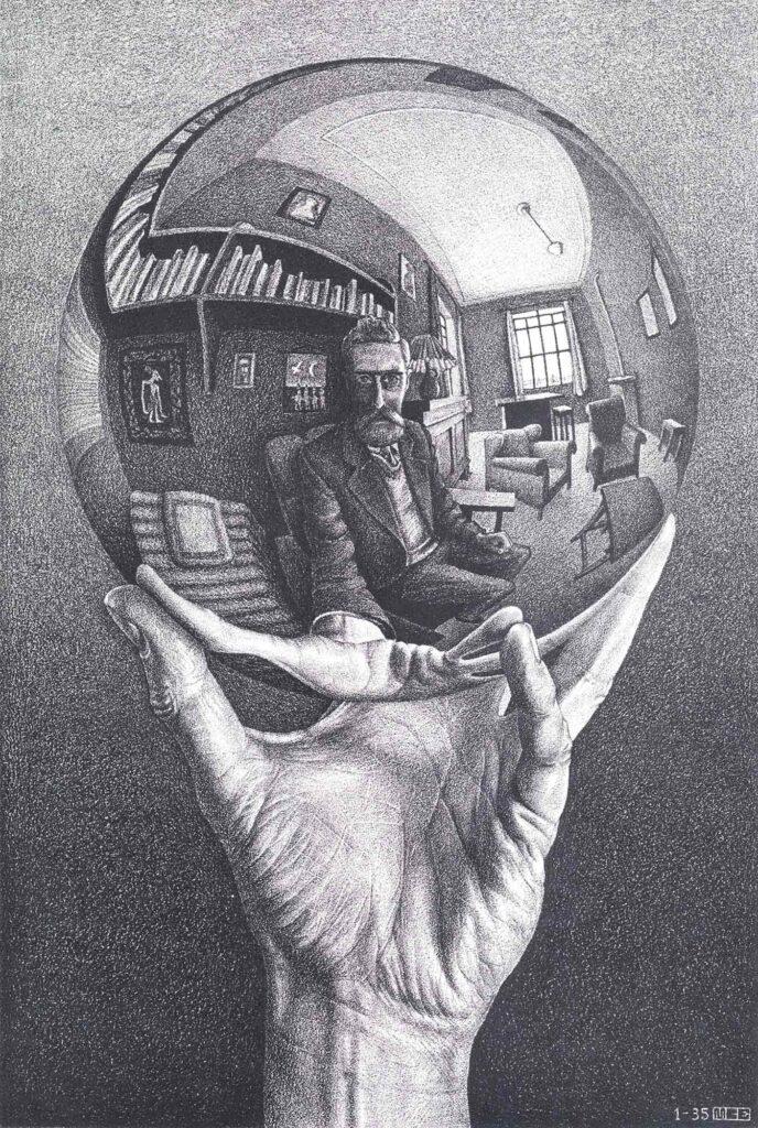 Maurits Cornelis Escher Yansıyan Küreli El