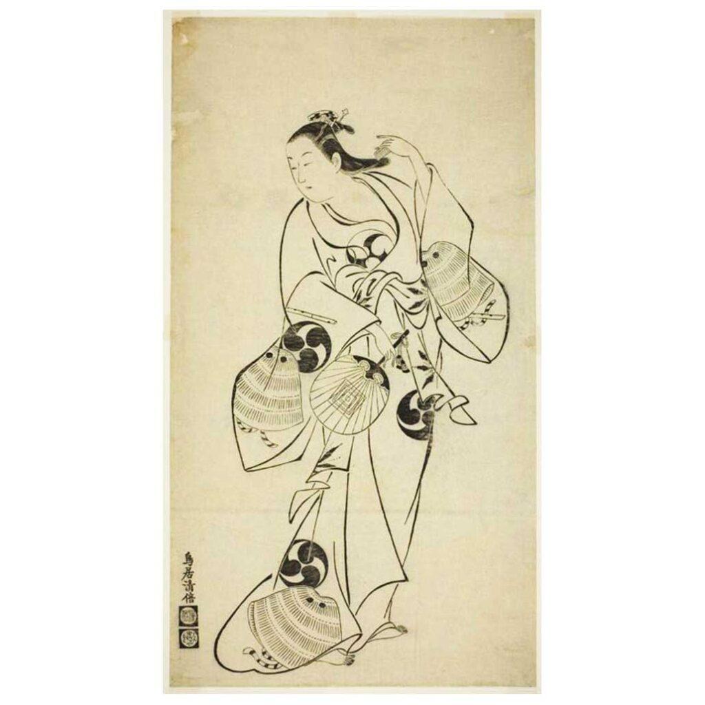 Resim 3, Torii Kiyomasu, Tarak Tutan Kadın, Edo Devri, 18. yy.
